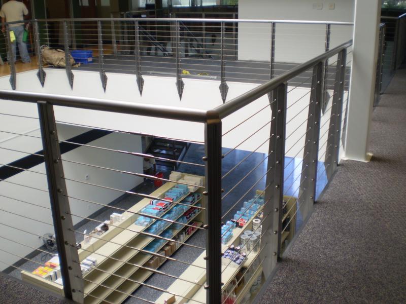cable railing indoors - Pacific Rigging Loft, Inc.